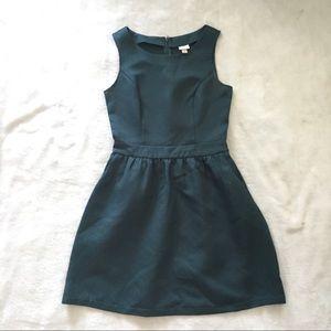 Green Asymmetrical Cocktail Dress